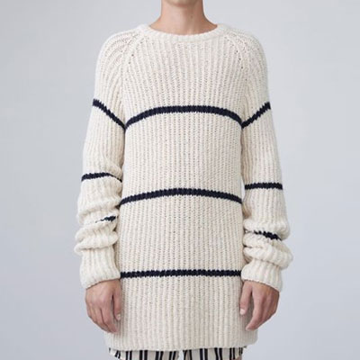 THIN STRIPE LONG KNIT