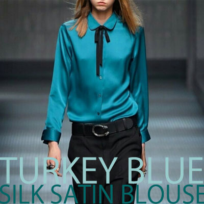 【FEMININE : BLACK LABEL】TURKEY SILK SATIN BLOUSE