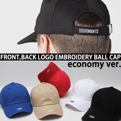 economy ver. FRONT&BACK EMBROIDERY BALL CAP