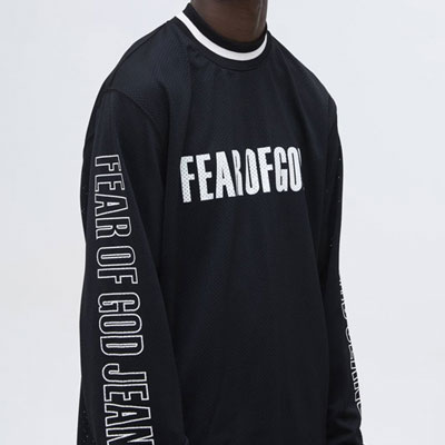 ARM LETTERING MESH LONG SLEEVE TEE