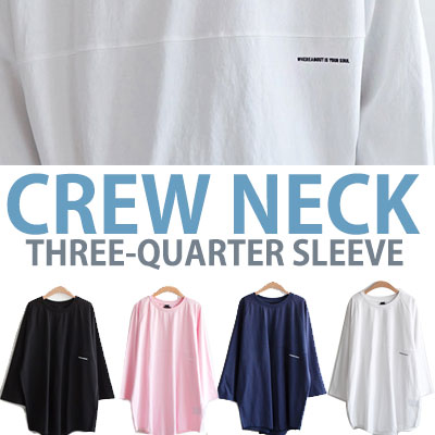 CREW NECK THREE-QUARTER SLEEVE