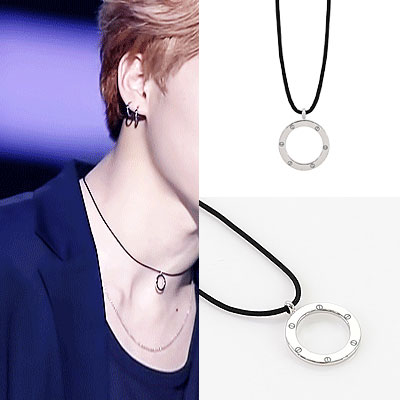 BTS STYLE! CIRCKING AND CUBIC NECKLACE