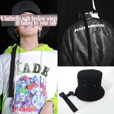 G-DRAGON ST! LONG STRAP BUCKET HAT /GD/fxxk it