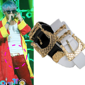 Korean fashion mail order; g- Dragon, Dong Bang Shin Ki, 2ne1 Sandara favorite leather belt (unisex)