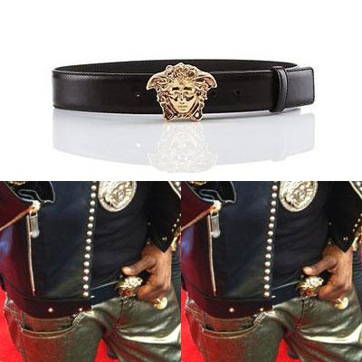"""International celebrities, popular Model LEE SU HYUK is favorite """"Ver ****"""" style of cowhide Medusa head belt (2color)"""