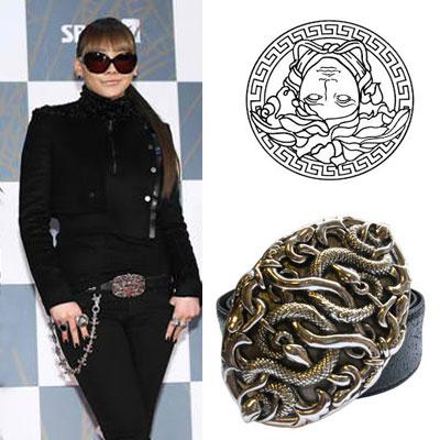 "Popular idol 2NE1 CL style items ""Vers ***"" snake belt"