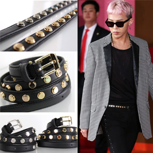 BIGBANG G DRAGON favorite plain clothes styleslim stud belt (2color)