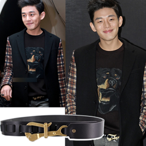 Hook point belt of international celebrities favorite belt mail order Korea popular actor Yoo Ah-in wear style GVC wind