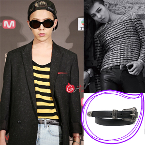 South Korea popular idol BIGBANG G DRAGON wear style Sein st. Smart buckle belt (3size)