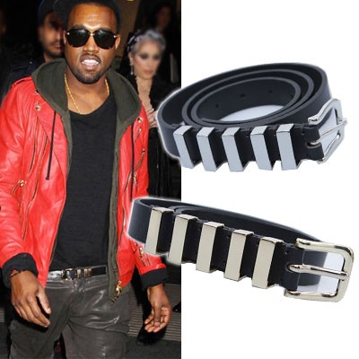 International celebrities plain clothes style items |. B @ A **** st Gold metal embllished Belt (2color)