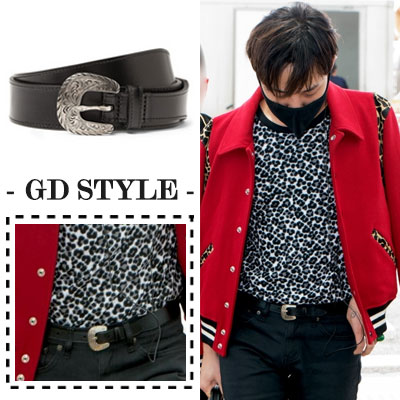 ★ year-end special price HAPPY EVENT ♥ 5 points limited ★ big bang fashion |. BIGBANG of G-dragon Airport Fashion items S @ int Western Buckle Belt Silver