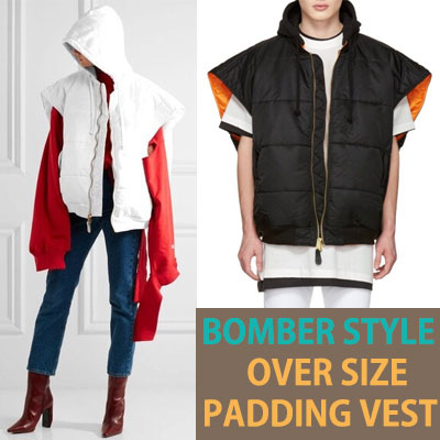 BOMBER STYLE OVER SIZE PADDING VEST