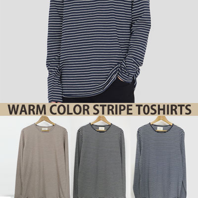NEW WARM STRIPE LONG SLEEVE T-SHIRT