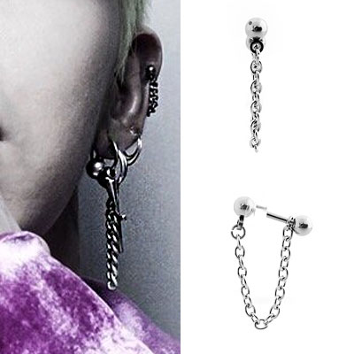 [1ea][surgical steel]G-DRAGON STYLE! BASIC CHAIN PIERCING