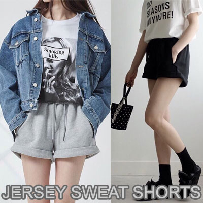 【FEMININE : BLACK LABEL】JERSEY SWEAT SHORTS