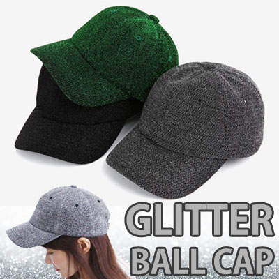 GLITTER BALL CAP TRENDY STREET ITEM