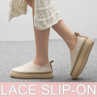 【RANG SHE】LACE SLIP-ON(3COLORS)