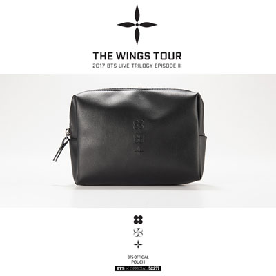 【BTSofficail goods】BTS POUCH [THE WINGS TOUR]