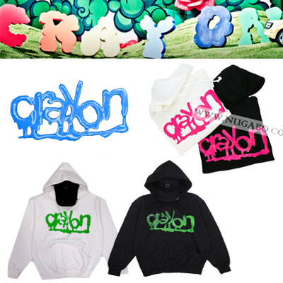 ★DAY SHIPPING★ Crayon crayon [] solo album title song of G-Dragon * crayon fluorescent logo printing parka