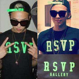 ★★SALE★★★ Alive Tour in LA BIGBANG Backstage photos G-Dragon plainclothes RSVP print t- shirt