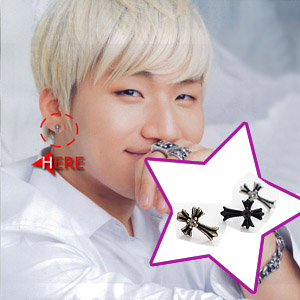 "bigbang of Tae Seong antique Hearts Earrings (D-LITE) gave in ""hotel power pudding"" (available in set)"