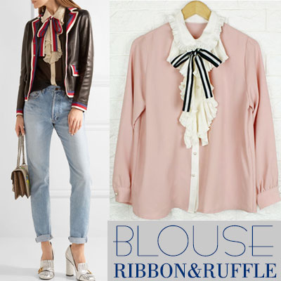 RIBBON&RUFFLE BLOUSE