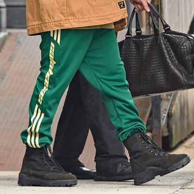 [green ver.]KANYE WEST st. THREE LINE AND LOGO JOGGER PANTS
