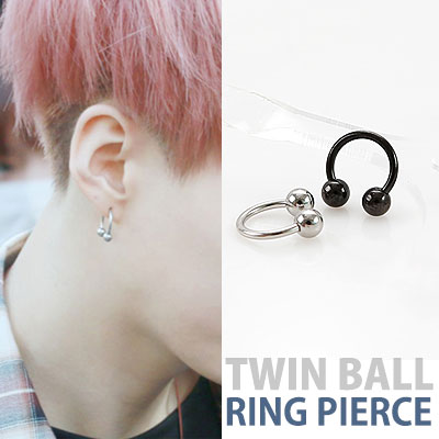 bts/suga/TWIN BALL RING PIERCING
