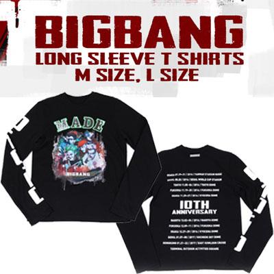【officail goods】BIGBANG LONG SLEEVE T-SHIRTS