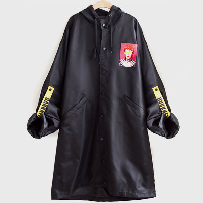 DAVID DARKNESS PATCH STRAP LONG JACKET