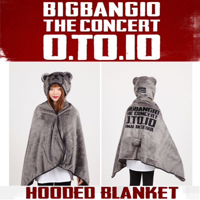 【officail goods】KRUNK X BIGBANG HOODED BLANKET