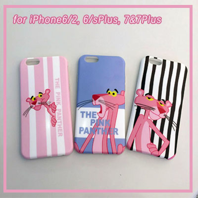 iPhone PINK PANTHER PRINTING 3TYPE JELLY HARD CASE/smartphone cover/smartphone case