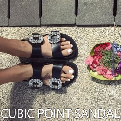 【RANG SHE】 ROGER *****STYLE!  CUBIC POINT SANDAL