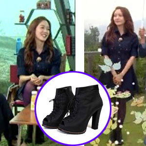 [22.5~25.0cm] Korean popular actress Son yuri style! Boot Heels (genuine leather)