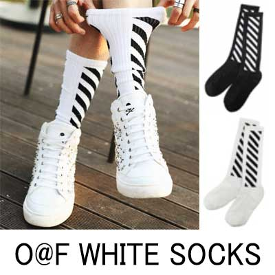 Popular street fashion of the world! O @ F WH * TE STYLE.SOCKS WHITE & BLACK socks (2COLOR)