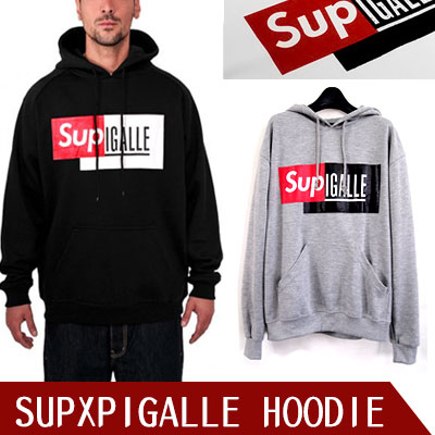 ★DAY SHIPPING★ popular street fashion brand SUPREM * X PIGALL * collaboration style hoodie (2COLR)