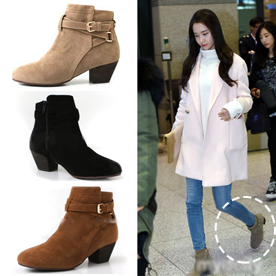 Airport Fashion style of Girls Yuna! Suede Pale Son shoes (3COLOR, 230 ~ 250mm)