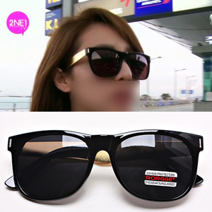 2NE1 mail order | 2ne1 Sandara Sunglasses of GOLD horizontal line point wearing of