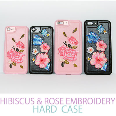 iPhone HIBISCUS & ROSE EMBROIDERY  HARD CASE/smartphone cover/smartphone case