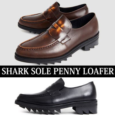 [24.5~28.0cm]SHARK SOLE PENNY LOAFER
