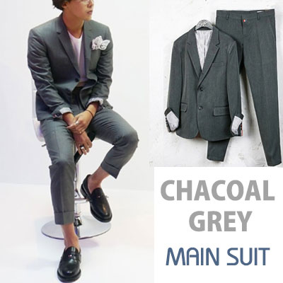 PRIMIUM CHARCOAL GREY MAIN SUIT/gd/g-dragon/bigbang