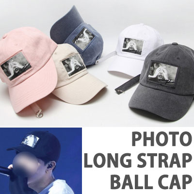 PHOTO BALL CAP RING LONG STRAP