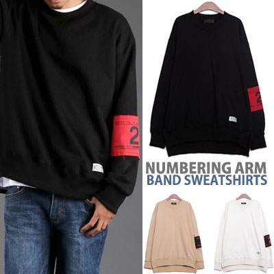 NUMBERING ARM BAND PATCH SWEATSHIRTS