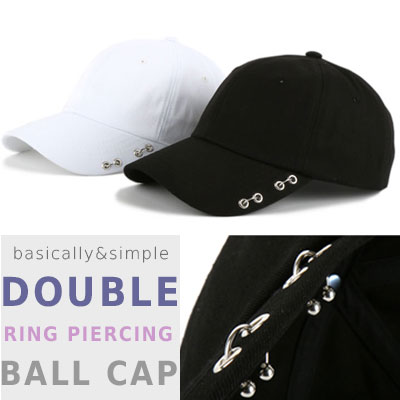 DOUBLE RING PIERCING BALL CAP