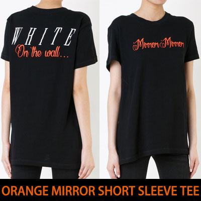 ORANGE MIRROR SHORT SLEEVE T-SHIRT