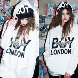 ★DAY SHIPPING★ South Korea popular street brand BOY LONDON Eagle Hoodie ★ (3Color)