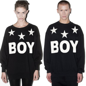 ★DAY SHIPPING★ Popular street fashion ★ Star Boy Basic trainer (unisex-brushed back)