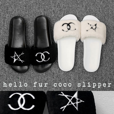 【RANG SHE】HELLO FUR COCO SLIPPER