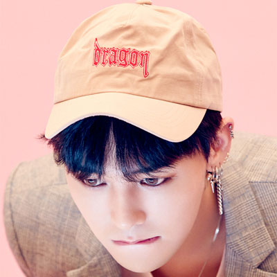 [8SECONDS]/2017 SS  8 X GD's PICK  (original) G-DRAGON STYLE! BEIGE GD EMBROIDERY LETTERING BALL CAP/G-Dragon/GD COLLABO