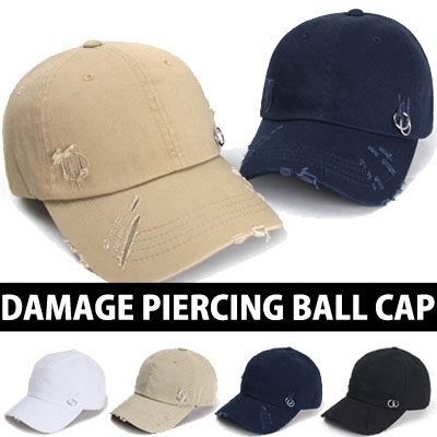 DAMAGE PIERCING BALL CAP